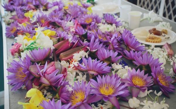 подношение цветы