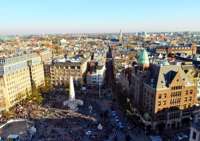 Взгляд на Амстердам с высоты