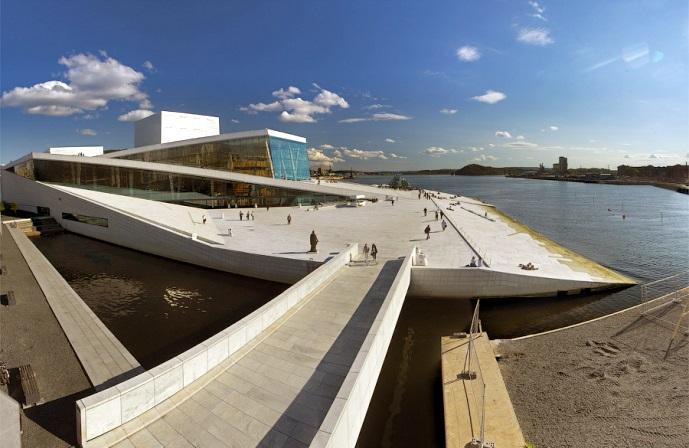 Футуристичная Новая опера в Осло