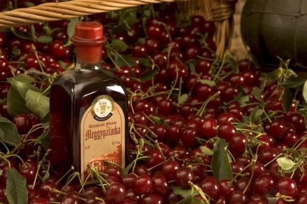 Алкогольный презент из Венгрии — вишневая палинка.