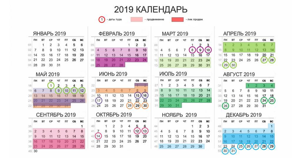 календарь 3.1 (обозначения)