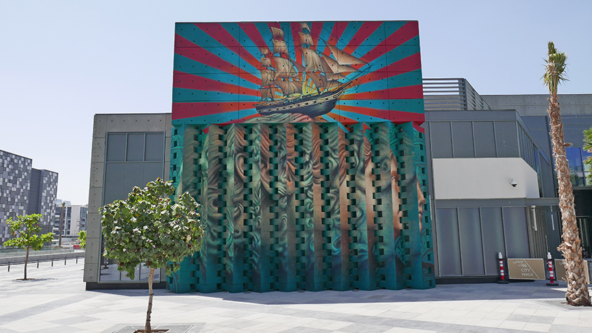Dubai Lenticular Mural