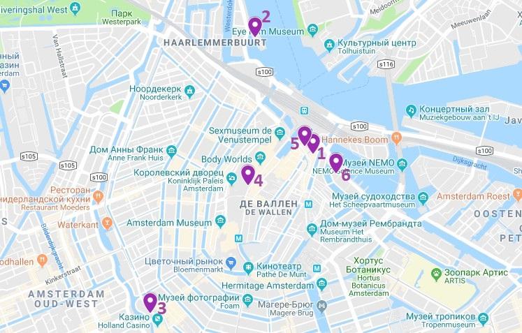 карта отелей